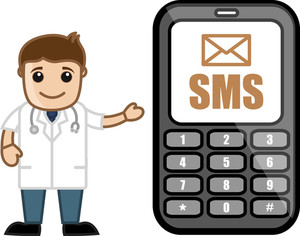 Sms Alert - Doctor & Medical Character Concept