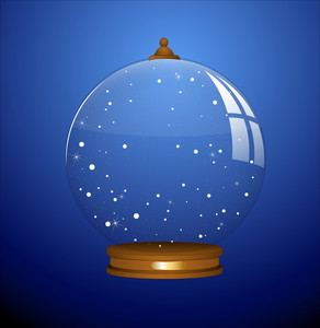 Snow Globe - Christmas Vector Illustration