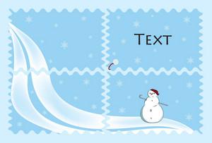 Snow Man Vector Illustration