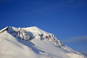 Snow On Mountain Landscape