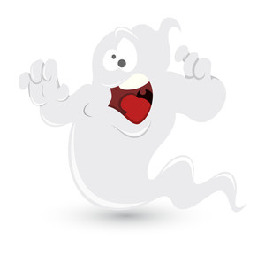 Snow White Ghost Vector