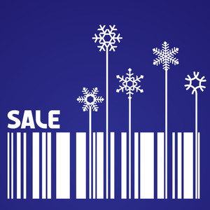 Snowflake And Bar-code