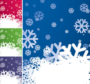 Snowflake Background Set. Vector.
