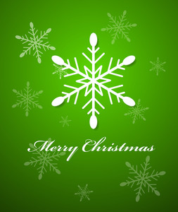 Snowflake Christmas Vector Background