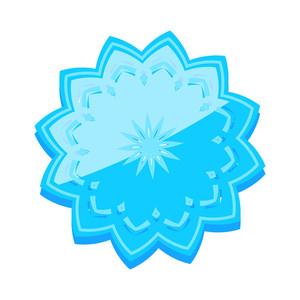 Snowflake Frame Sticker