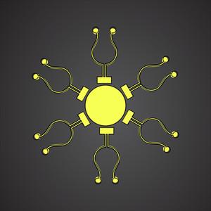 Snowflake Sun Design