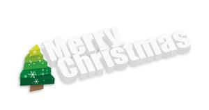 Snowflakes Christmas Tree Banner