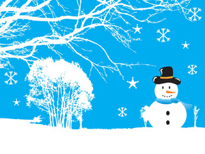 Snowflaks Christmas Background