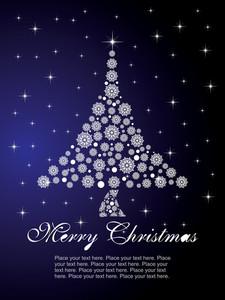 Snowklake Christmas Background