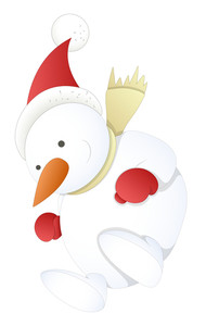 Snowman - Christmas Vector Illustration