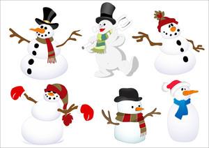 Snowmen Characters Vectors