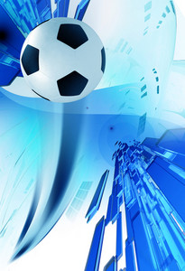 Soccer Blue Background