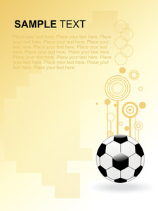 Soccer Pattern Gretting Illustration