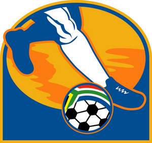 Soccer Player Ball Flag South Africa