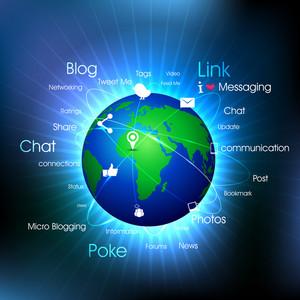 Social-media Globe.