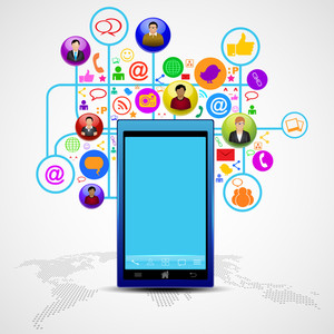 Social Media Network Connection And Communication In The Global