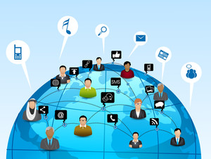 Social Media Network Connection Concept.
