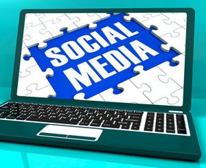 Social Media On Laptop Showing Online Communities
