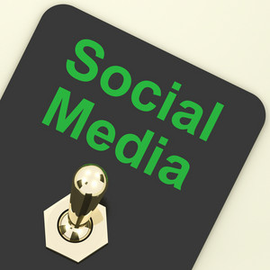 Social Media Switch Shows Different Types Of Online Information