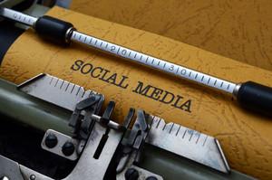 Social Media Text On Typewriter