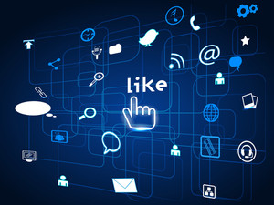 Social Networking Communication Abstract With The Digital Look Networks. Eps 10 Vector Illustration