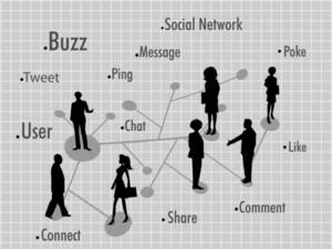 Social Networking Communication Illustration. Vector.
