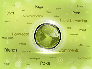 Social Networking Map Diagram.