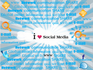 Social Networking Theme Displaying Various Words Connected To Social Media.