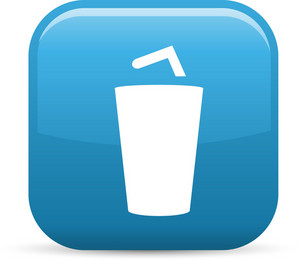 Soda Cup Elements Glossy Icon