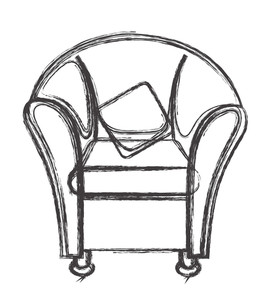 Sofa Clipart Drawing Vector