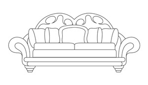 Sofa Vector Shape Design