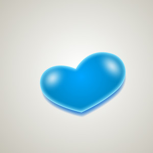 Soft Blue Heart