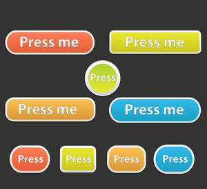 Soft Buttons Vectors