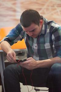 Software Developer Working On Computer At Modern Office