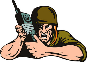 Soldier With Radio