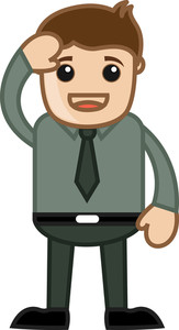 Solute - Business Cartoon Character Vector