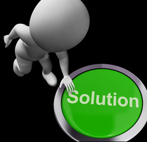 Solution Computer Button Shows Success And Strategies