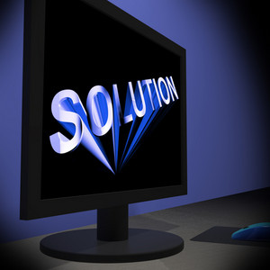 Solution On Monitor Showing Successful Strategies