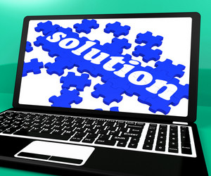 Solution Puzzle On Notebook Showing Computer Applications