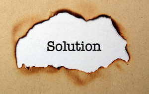 Solution Text On Paper Hole