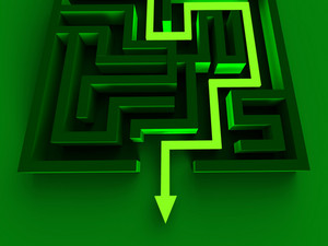 Solving Maze Shows Puzzle Way Out