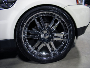 "some really big rims - plenty of ""bling bling"" here..."