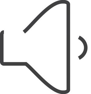 Sound 3 Minimal Icon