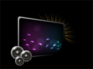 Sounds and frame for your text on musical party night.