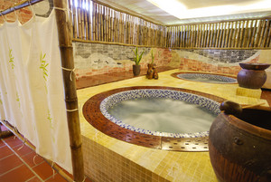 Spa and wellness jacuzzi room