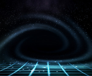 Space Stage Background