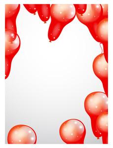 Sparkle Balloons Frame Design