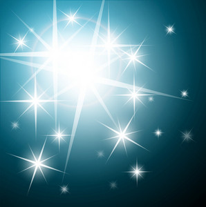 Sparkling Stars - Vector Background