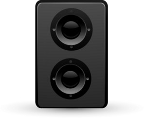 Speaker Black Lite Media Icon