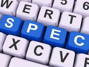 Spec Keys Show Specifications Blueprint Or Design